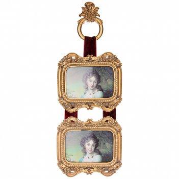 Фоторамка на 2 фото  коллекция рококо 19,7*17,5*5,5 см