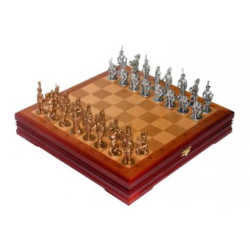 Rts-02.b оловянные шахматы исторические с тонированными фигурами