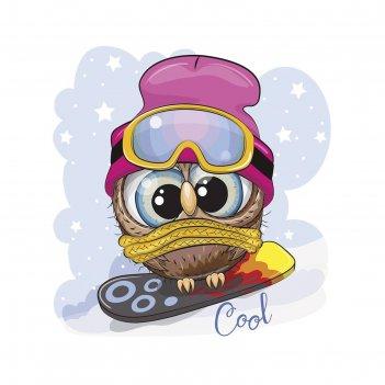 Фотопанно картина юная сноубордистка 40х50