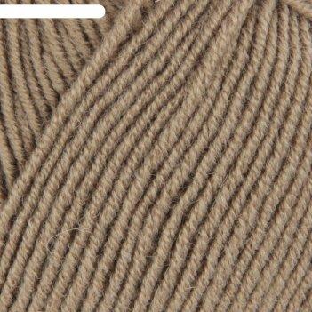 Пряжа удачная 50% шерсть, 50% акрил 250м/100гр (274-серобежевый)