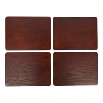 Creative tops набор из 4 подставок wooden brown 29x21
