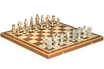 Шахматы англия фигуры полистоун, король 11,5см, доска 55х55см польша
