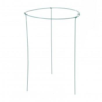 Кустодержатель, d = 60 см, h = 90 см, ножка d = 0,3 см, металл, зелёный