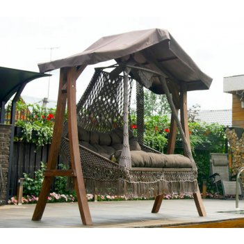 Подвесное кресло lite seara + каркас lite каравелла, садовая мебель