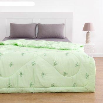 Одеяло бамбук 140х205 см, полиэфирное волокно 200 гр/м, пэ 100%