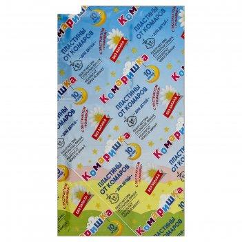 Пластины от комаров чистый дом комаришка для детей с экстрактом ромашки 10