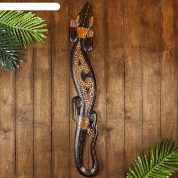 Панно геккон с узорами, 100 см