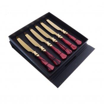 Набор столовых ножей domus ginevra gold (6 шт)