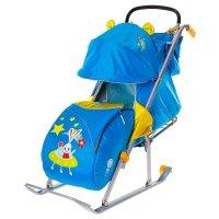 Санки-коляска ника детям 5 - заяц в космосе