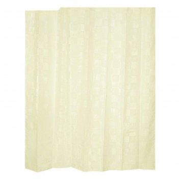 Штора для ванной комнаты тканевая 240x200 см dagha beige