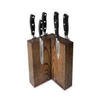 Набор из 6-ти кухонных ножей на подставке из дуба, серия riviera, arcos, и