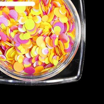 Камифубуки для декора ногтей, флуоресцентные, цвет оранжевый/зелёный
