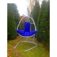 Подвесное кресло на стойке корфу, белое/синее