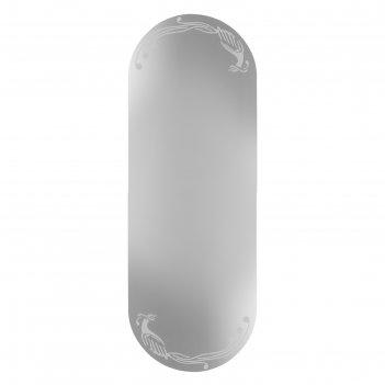 Зеркало «птицы», с пескоструйной графикой, настенное, 40x110 см