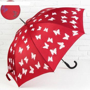 Зонт полуавтоматический «бабочки», проявляющийся рисунок, 8 спиц, r = 51 с