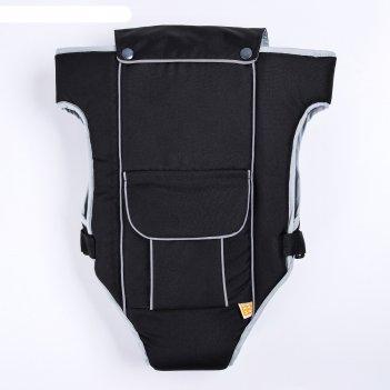 Рюкзак-кенгуру универсал, цвет черный