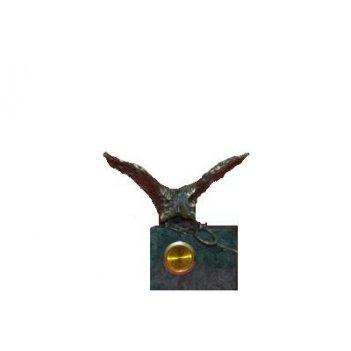 Часы из мрамора с фигуркой двуглавого орла