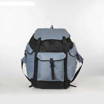 Рюкзак тур большой лесной, 38*30*70, 78л, отд на шнурке, 3 н/кармана, сини