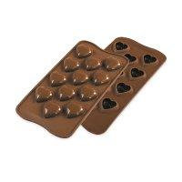 Форма для приготовления шоколадных конфет my love, материал: силикон, цвет