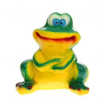 Садовая фигура лягушка сидячая большая (42-38 см)