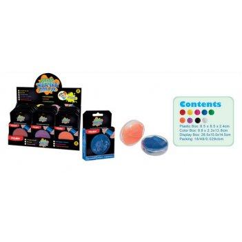 Жвачка для рук. стандартные цвета, объем 50 гр., 18 штук в дисплее, цена з