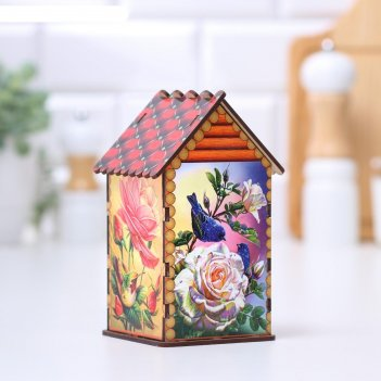 Чайный домик птичий домик в саду,17х10,5х9 см