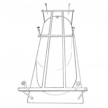 Каркас для ванны eurolux akra e5016070047, 160x70 см, усиленный