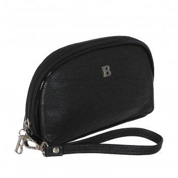 Косметичка п/овал, l-74-09, 17*2*12см, 4отд, н/карман, с ручкой, черный