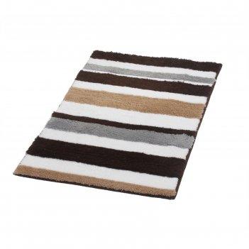 Коврик для ванной комнаты tutu, бежевый/коричневый, 70x120 см