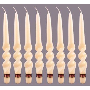 Набор свечей из 8 шт. альфа лакированный шампанс...
