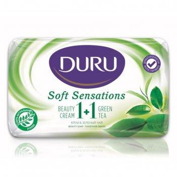 Тулетное мыло duru, крем + зелёный чай, 80 г
