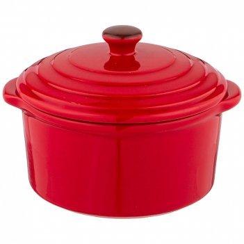 Гоpшочек для запекания agness modern kitchen красный 600мл 16*14*11 см
