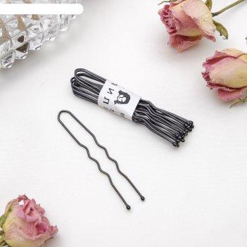 Шпильки для волос чёрные (набор 10 шт.)