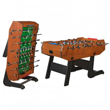 Игровой стол - футбол складной maccabi, 140x75x89 см, цвет орех