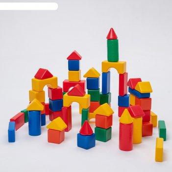 Строительный набор, 60 элементов 6 х 6 см