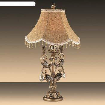 Настольная лампа ponga 60вт e27 бронза