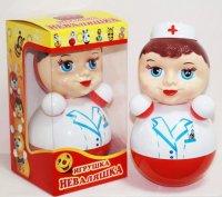 Игрушка-неваляшка медсестра, 22,5 см