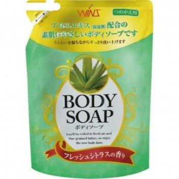Крем-мыло для тела wins body soup aloe с экстрактом алоэ, 400 мл