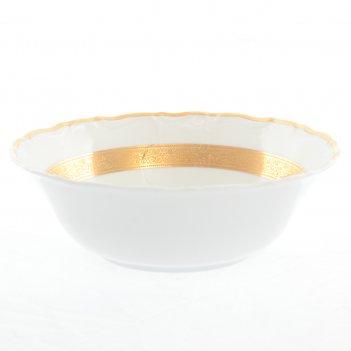 Набор салатников thun мария луиза золотая лента 19 см(6 шт)