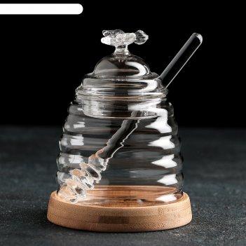 Банка для мёда «эко. пчёлка», 220 мл, 9,3x13 см