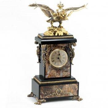 Часы двуглавый орел камень яшма
