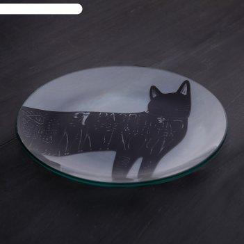 Тарелка стеклянная декоративная я разрешаю, 18 см