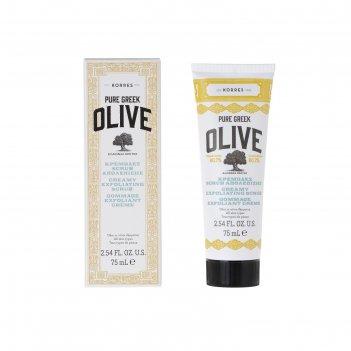 Скраб-крем для лица korres pure greek olive, 75 мл