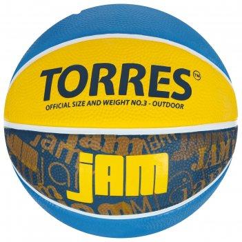 Мяч баск. torres jam арт.b02043, р.3, резина, нейлон. корд, бут. кам., син