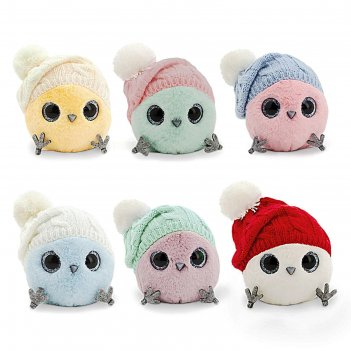 Мягкая игрушка «ктотик в шапке с помпонами», 13 см, цвет микс