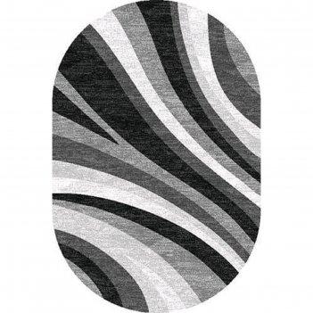 Овальный ковёр silver d234, 150 x 190 см, цвет gray