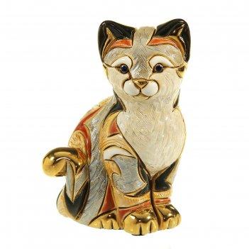 Фигурка сидящая кошка калико