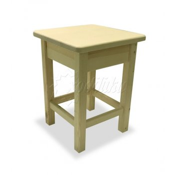 Табурет деревянный «буратино» без окраски