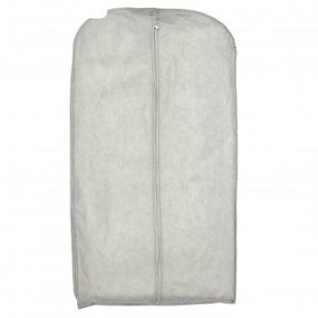 Чехол для одежды зимний 140x60x10 см, спанбонд, цвет серый