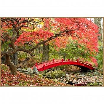Алмазная мозаика японский парк, 45*30 см, 38 цветов